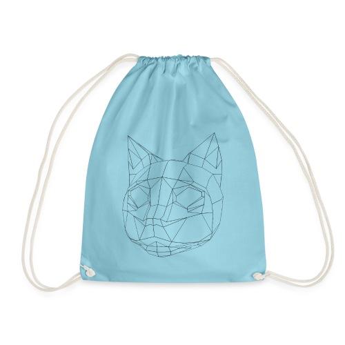 CAT wireframe black low poly - Mochila saco