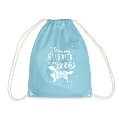 Welsh Springer Spaniel Moon 2 - Drawstring Bag