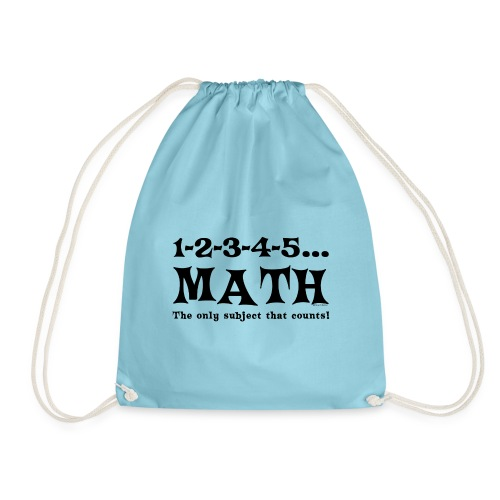 Black Math Counts - Drawstring Bag