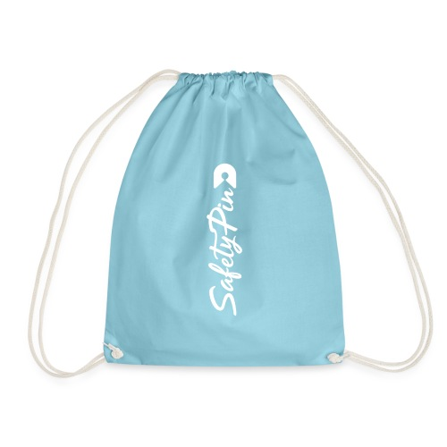 Verticle SafetyPin - Drawstring Bag
