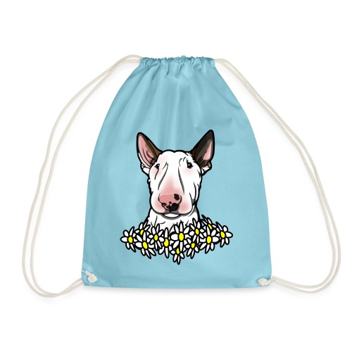 Bullterrier Daisies - Drawstring Bag