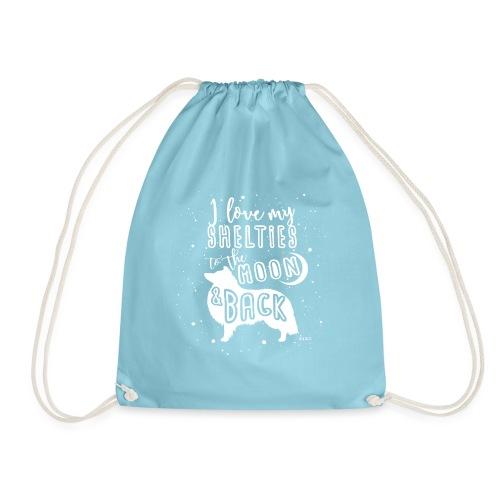 Sheltie Moon 2 - Drawstring Bag