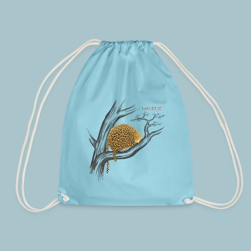 Rollin' Wild - Leopard on tree - Drawstring Bag