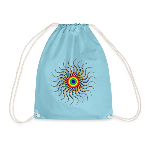 Abstract sun tote bag - Drawstring Bag