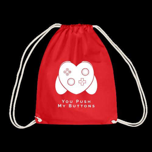 You Push My Buttons - Drawstring Bag