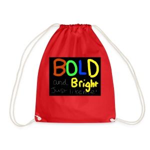 Bold and bright - Drawstring Bag
