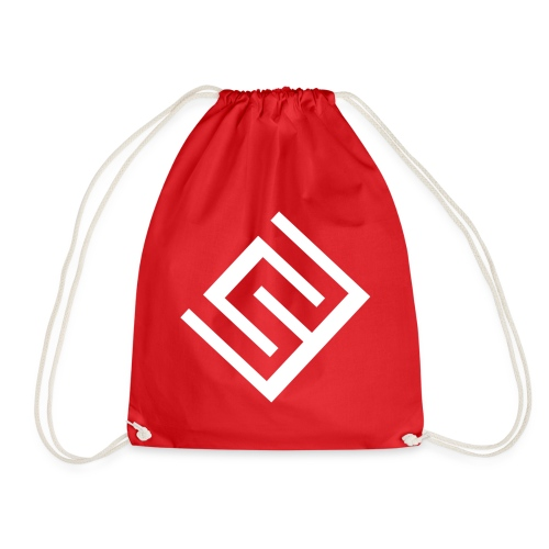 ChrisWhippit Logo Vit - Gymnastikpåse