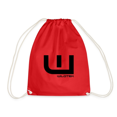 Wildtek Logo Black - Drawstring Bag