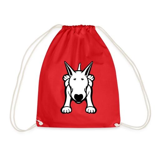 Bull Terrier Sprawl Design Tee - Drawstring Bag