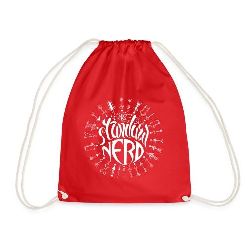 standardnerd white - Drawstring Bag
