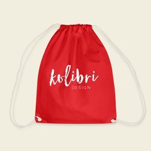 Logo Kolibri Design weiss - Turnbeutel
