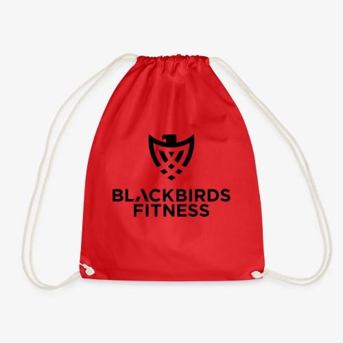 Blackbirds Fitness Logo schwarz - Turnbeutel