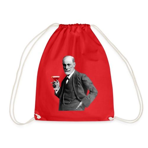 Sigmund Freud mit Cocktail - Turnbeutel