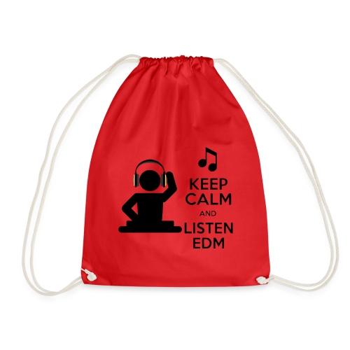 keep calm and listen edm - Drawstring Bag