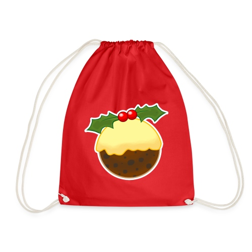 Christmas Pudding - Drawstring Bag