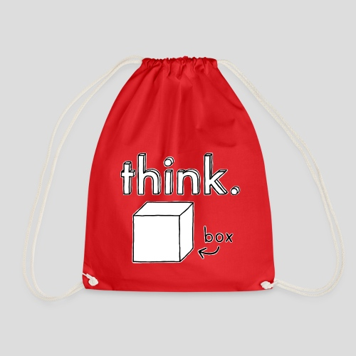 Think Outside The Box Illustration - Drawstring Bag