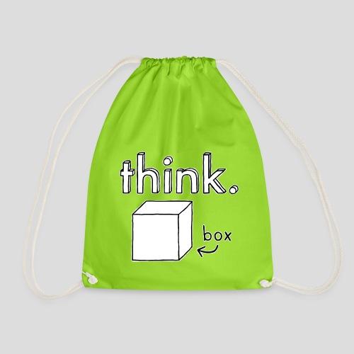 Think Outside The Box Illustration - Drawstring Bag