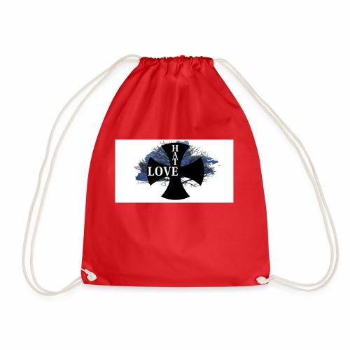 Love hate T SHIRT - Drawstring Bag
