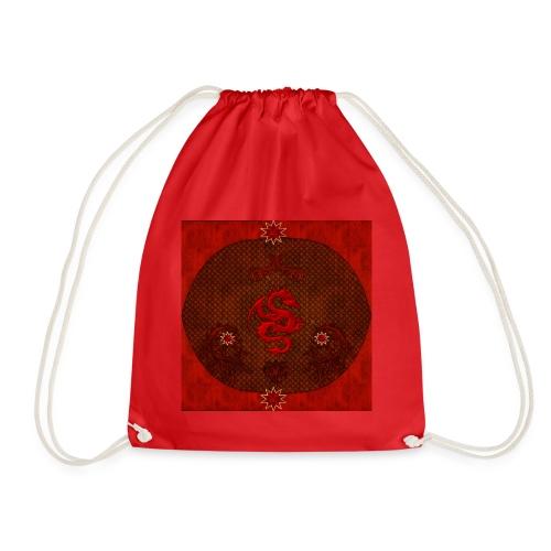 Impresionante rojo dragón chino - Mochila saco