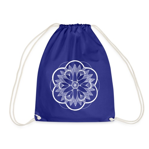 White Pond Bouquet Mandala - Drawstring Bag