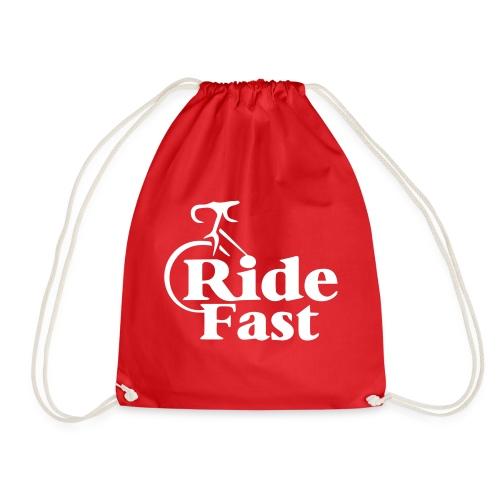 Ride Fast Shirt für Radfahrer. - Turnbeutel
