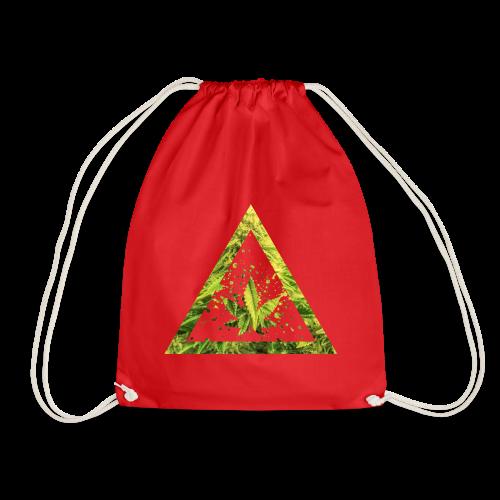 Marijuana Cannabisblatt Triangle with Splashes - Turnbeutel
