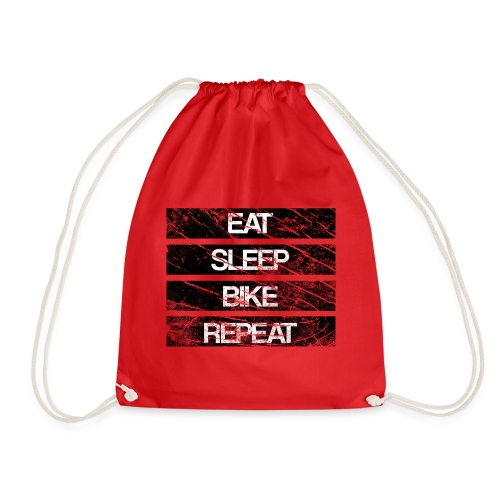 eat sleep bike repeat Used look - Turnbeutel