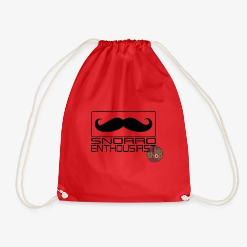 Snorro enthusiastic (black) - Drawstring Bag