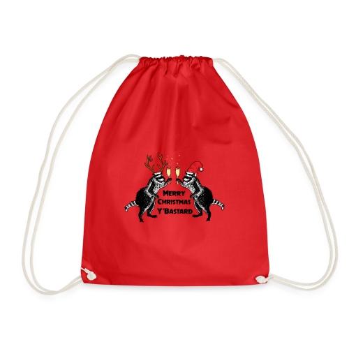 Xmas Raccoons - Drawstring Bag
