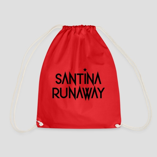 DJ Santina Runaway - Logo - Black - Drawstring Bag