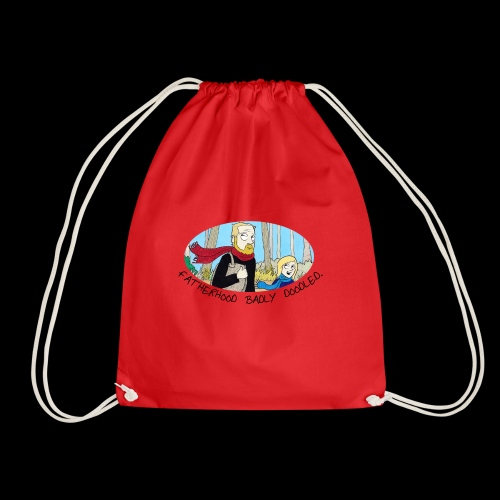 Fatherhood Badly Doodled - Drawstring Bag