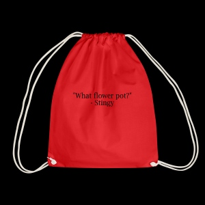 stingy quote - Drawstring Bag