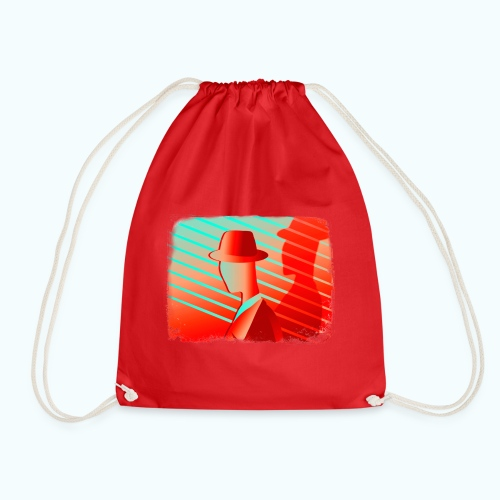 Men In Red Vintage 80s - Drawstring Bag