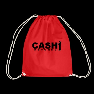 CASH RETURNS Logo (Black) - Drawstring Bag