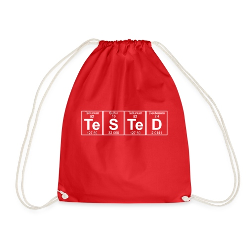 Te-S-Te-D (tested) (small) - Drawstring Bag