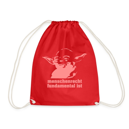 menschenrecht yoda (chocco) - Turnbeutel