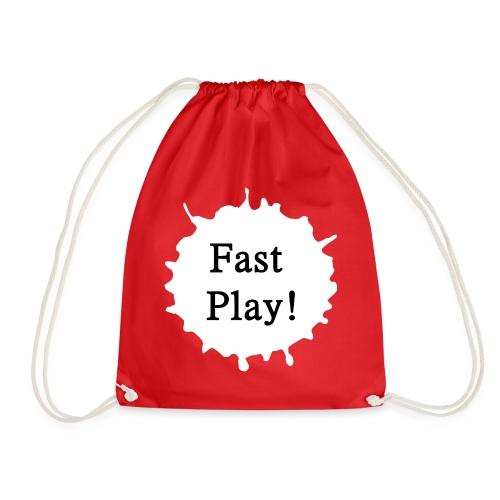 Fast play weiß - Turnbeutel