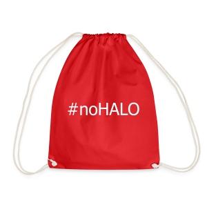 #noHALO white - Drawstring Bag