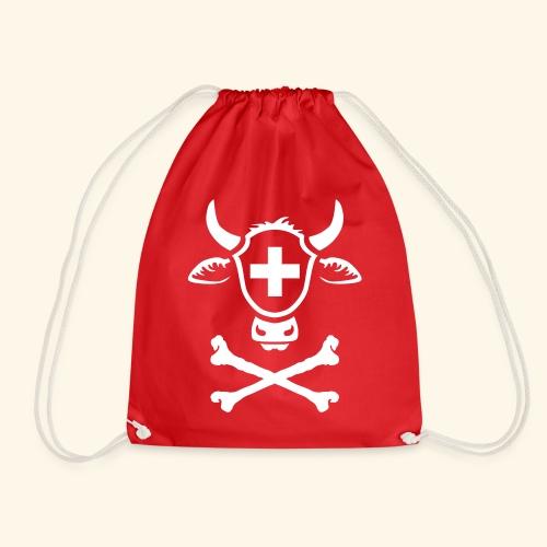 Schweiz Skull Swiss Pirate - Turnbeutel