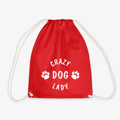 crazy dog lady - Turnbeutel