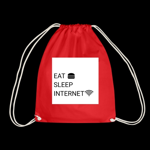 EAT SLEEP INTERNET - Drawstring Bag