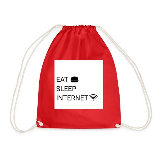 EAT SLEEP INTERNET - Drawstring Bag
