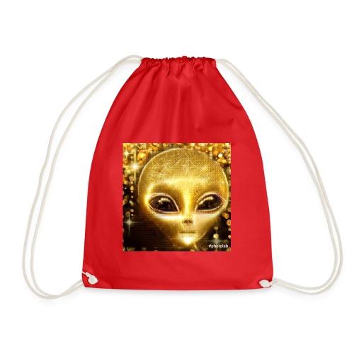 Golden Alien the first born ever - Drawstring Bag