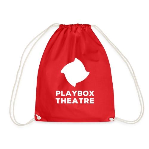 Playbox Logo Stacked White - Drawstring Bag