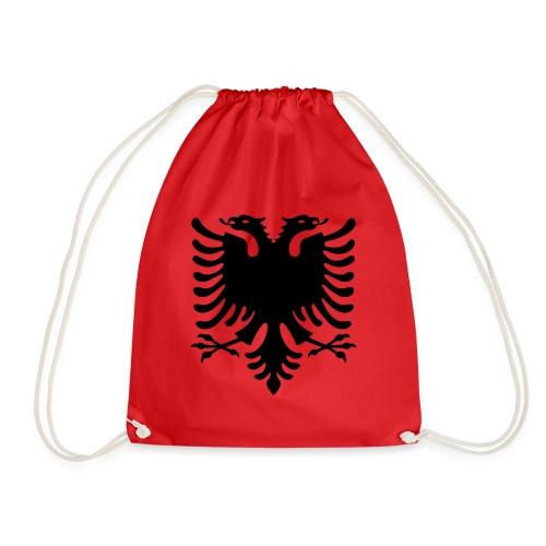 Albanische Flagge / Albanischer Adler / Shqiponja - Turnbeutel