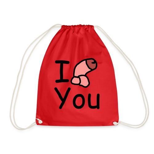 I dong you pillow - Drawstring Bag
