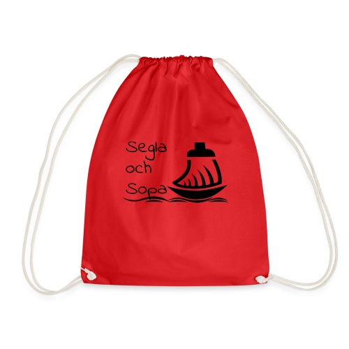 Segla och sopa Black - Drawstring Bag
