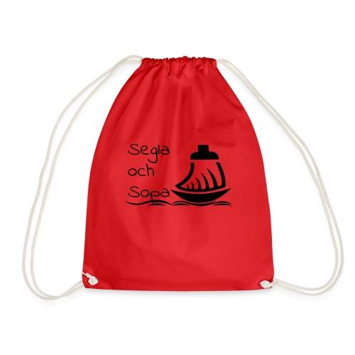 Segla och sopa Black - Drawstring Bag