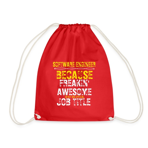 freakin' awesome software engineer - Drawstring Bag