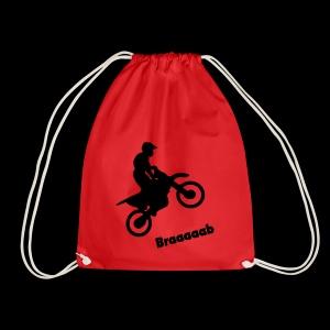 Motorrad im Wheelie - Turnbeutel